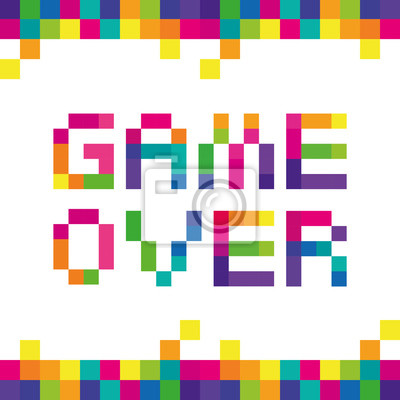 Постер-картина Пиксель-арт Игра Цвета Пиксела. Вектор стилизованные буквы фразы текста игры полноцветных пикселейПиксель-арт<br>Постер на холсте или бумаге. Любого нужного вам размера. В раме или без. Подвес в комплекте. Трехслойная надежная упаковка. Доставим в любую точку России. Вам осталось только повесить картину на стену!<br>