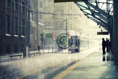 Постер Дождь Дождь в городе Калгари, КанадаДождь<br>Постер на холсте или бумаге. Любого нужного вам размера. В раме или без. Подвес в комплекте. Трехслойная надежная упаковка. Доставим в любую точку России. Вам осталось только повесить картину на стену!<br>