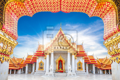 Постер Таиланд Мраморный храм, Dusitvanaram Ват Арун в Бангкоке, ТаиландТаиланд<br>Постер на холсте или бумаге. Любого нужного вам размера. В раме или без. Подвес в комплекте. Трехслойная надежная упаковка. Доставим в любую точку России. Вам осталось только повесить картину на стену!<br>