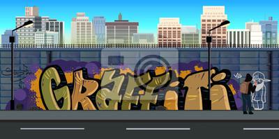 Постер-картина Стрит-арт Граффити стены фон, городского искусстваСтрит-арт<br>Постер на холсте или бумаге. Любого нужного вам размера. В раме или без. Подвес в комплекте. Трехслойная надежная упаковка. Доставим в любую точку России. Вам осталось только повесить картину на стену!<br>