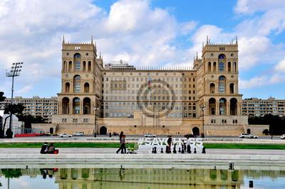 Постер Города и карты Дом правительства в Баку, 30x20 см, на бумагеБаку<br>Постер на холсте или бумаге. Любого нужного вам размера. В раме или без. Подвес в комплекте. Трехслойная надежная упаковка. Доставим в любую точку России. Вам осталось только повесить картину на стену!<br>