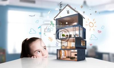 Дизайн дома вашей мечты . Смешанная техника, 33x20 см, на бумагеЗагородная недвижимость<br>Постер на холсте или бумаге. Любого нужного вам размера. В раме или без. Подвес в комплекте. Трехслойная надежная упаковка. Доставим в любую точку России. Вам осталось только повесить картину на стену!<br>