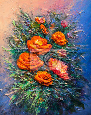 Искусство, картина Картина маслом цветы, 20x25 см, на бумагеЦветы в современной живописи<br>Постер на холсте или бумаге. Любого нужного вам размера. В раме или без. Подвес в комплекте. Трехслойная надежная упаковка. Доставим в любую точку России. Вам осталось только повесить картину на стену!<br>