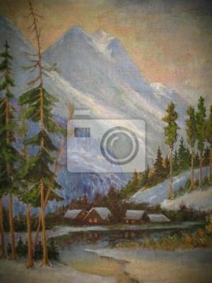 Пейзажи Постер 1246886, 20x27 см, на бумагеПейзаж горный в современной живописи<br>Постер на холсте или бумаге. Любого нужного вам размера. В раме или без. Подвес в комплекте. Трехслойная надежная упаковка. Доставим в любую точку России. Вам осталось только повесить картину на стену!<br>
