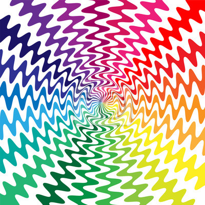 Постер-картина Оптическое искусство Векторные Иллюстрации. Красочные волнистые линии расширялись от центра. Зрительную Иллюзию Движения. Подходит для текстиля, ткани, упаковка и веб-дизайн.Оптическое искусство<br>Постер на холсте или бумаге. Любого нужного вам размера. В раме или без. Подвес в комплекте. Трехслойная надежная упаковка. Доставим в любую точку России. Вам осталось только повесить картину на стену!<br>
