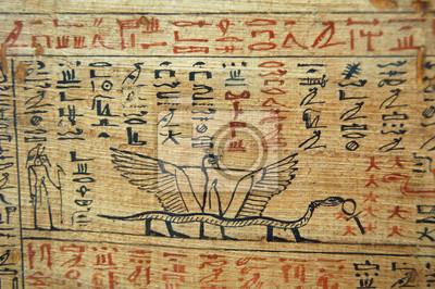 Постер-картина Иероглифы Египетские иероглифы змея на ноги на папирусеИероглифы<br>Постер на холсте или бумаге. Любого нужного вам размера. В раме или без. Подвес в комплекте. Трехслойная надежная упаковка. Доставим в любую точку России. Вам осталось только повесить картину на стену!<br>
