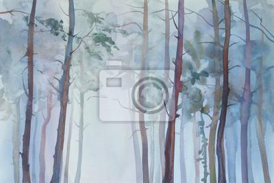 Постер Туман Туманный лес фонТуман<br>Постер на холсте или бумаге. Любого нужного вам размера. В раме или без. Подвес в комплекте. Трехслойная надежная упаковка. Доставим в любую точку России. Вам осталось только повесить картину на стену!<br>