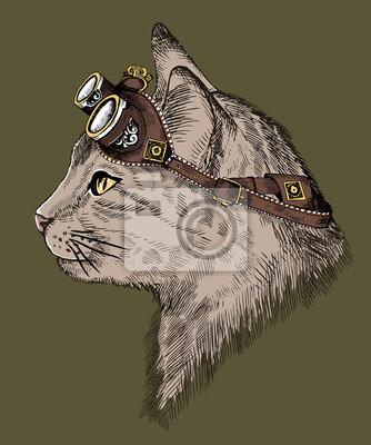 Стимпанк, картина Стимпанк кошкаСтимпанк<br>Репродукция на холсте или бумаге. Любого нужного вам размера. В раме или без. Подвес в комплекте. Трехслойная надежная упаковка. Доставим в любую точку России. Вам осталось только повесить картину на стену!<br>