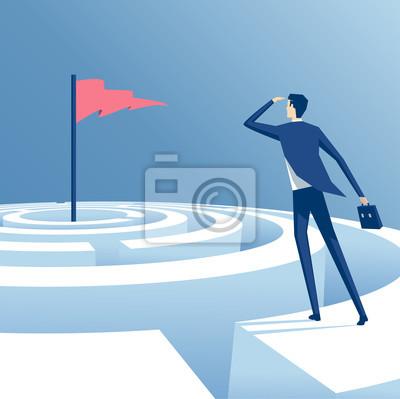 Постер-картина Лабиринт Бизнесмен ищет способ достижения цели через лабиринт, сотрудник пытается пройти лабиринт, бизнес-концепция преодоления проблем и достижения целейЛабиринт<br>Постер на холсте или бумаге. Любого нужного вам размера. В раме или без. Подвес в комплекте. Трехслойная надежная упаковка. Доставим в любую точку России. Вам осталось только повесить картину на стену!<br>