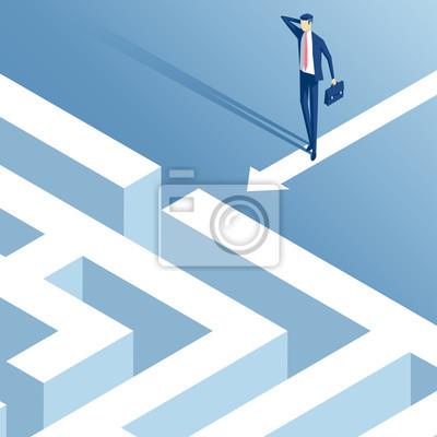 Постер-картина Лабиринт Изометрические бизнесмен стоял перед входом в лабиринт и думает, как его пройти, запутался сотрудник раздумывает над тем, как преодолеть лабиринт, бизнес, концепция, проблемы и вызовыЛабиринт<br>Постер на холсте или бумаге. Любого нужного вам размера. В раме или без. Подвес в комплекте. Трехслойная надежная упаковка. Доставим в любую точку России. Вам осталось только повесить картину на стену!<br>