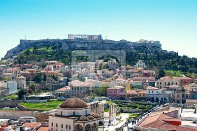 Вид на памятник Акрополя в Афинах, Греция, 30x20 см, на бумагеАфины, Акрополь<br>Постер на холсте или бумаге. Любого нужного вам размера. В раме или без. Подвес в комплекте. Трехслойная надежная упаковка. Доставим в любую точку России. Вам осталось только повесить картину на стену!<br>