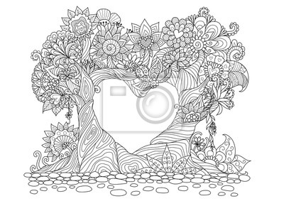 Постер-картина Раскраски антистресс Абстрактные деревья в форме сердца линии искусства дизайна для раскраски книгаРаскраски антистресс<br>Постер на холсте или бумаге. Любого нужного вам размера. В раме или без. Подвес в комплекте. Трехслойная надежная упаковка. Доставим в любую точку России. Вам осталось только повесить картину на стену!<br>
