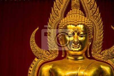 Статуя золотого Будды, храм Ват-та Kahnun, Kanjanaburi , Тайский, 30x20 см, на бумагеСтатуя Будды<br>Постер на холсте или бумаге. Любого нужного вам размера. В раме или без. Подвес в комплекте. Трехслойная надежная упаковка. Доставим в любую точку России. Вам осталось только повесить картину на стену!<br>