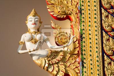 """Постер Таиланд """"Таиланд, Тайский искусство статуя Киннари : мифическая полуптица полуженщина"""" от Artwall"""