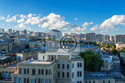 Панорамный вид на Баку., 30x20 см, на бумагеБаку<br>Постер на холсте или бумаге. Любого нужного вам размера. В раме или без. Подвес в комплекте. Трехслойная надежная упаковка. Доставим в любую точку России. Вам осталось только повесить картину на стену!<br>