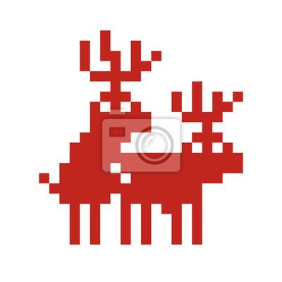Постер-картина Пиксель-арт Стиле пиксель-арт, ретро игры двух оленей, что делает любовь векторПиксель-арт<br>Постер на холсте или бумаге. Любого нужного вам размера. В раме или без. Подвес в комплекте. Трехслойная надежная упаковка. Доставим в любую точку России. Вам осталось только повесить картину на стену!<br>