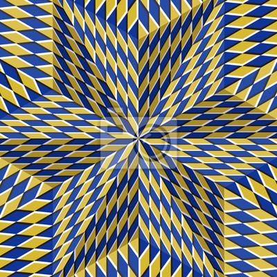 Клетчатый желтый голубой шестиконечной звездой. Оптическая иллюзия движения абстрактный фон., 20x20 см, на бумагеОптическое искусство<br>Постер на холсте или бумаге. Любого нужного вам размера. В раме или без. Подвес в комплекте. Трехслойная надежная упаковка. Доставим в любую точку России. Вам осталось только повесить картину на стену!<br>
