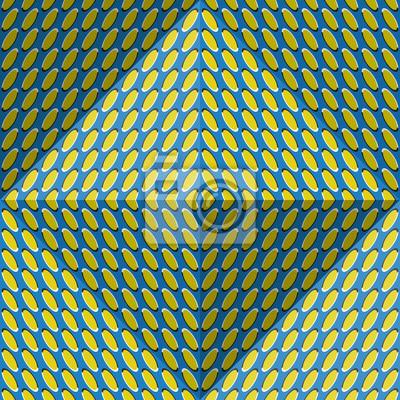 Постер-картина Оптическое искусство Оптическая иллюзия движения абстрактный фон. Эллипс рисунком бесшовные шаблон в форме четырехгранной пирамиды.Оптическое искусство<br>Постер на холсте или бумаге. Любого нужного вам размера. В раме или без. Подвес в комплекте. Трехслойная надежная упаковка. Доставим в любую точку России. Вам осталось только повесить картину на стену!<br>