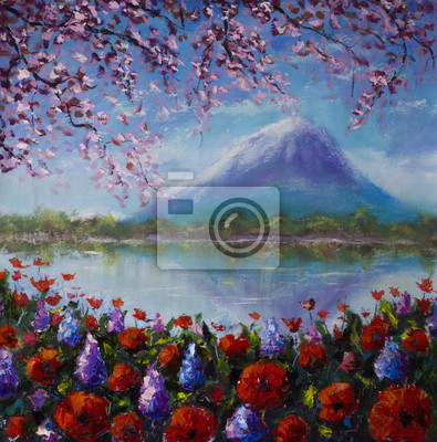 Пейзажи Постер 133992977, 20x20 см, на бумагеПейзаж горный в современной живописи<br>Постер на холсте или бумаге. Любого нужного вам размера. В раме или без. Подвес в комплекте. Трехслойная надежная упаковка. Доставим в любую точку России. Вам осталось только повесить картину на стену!<br>
