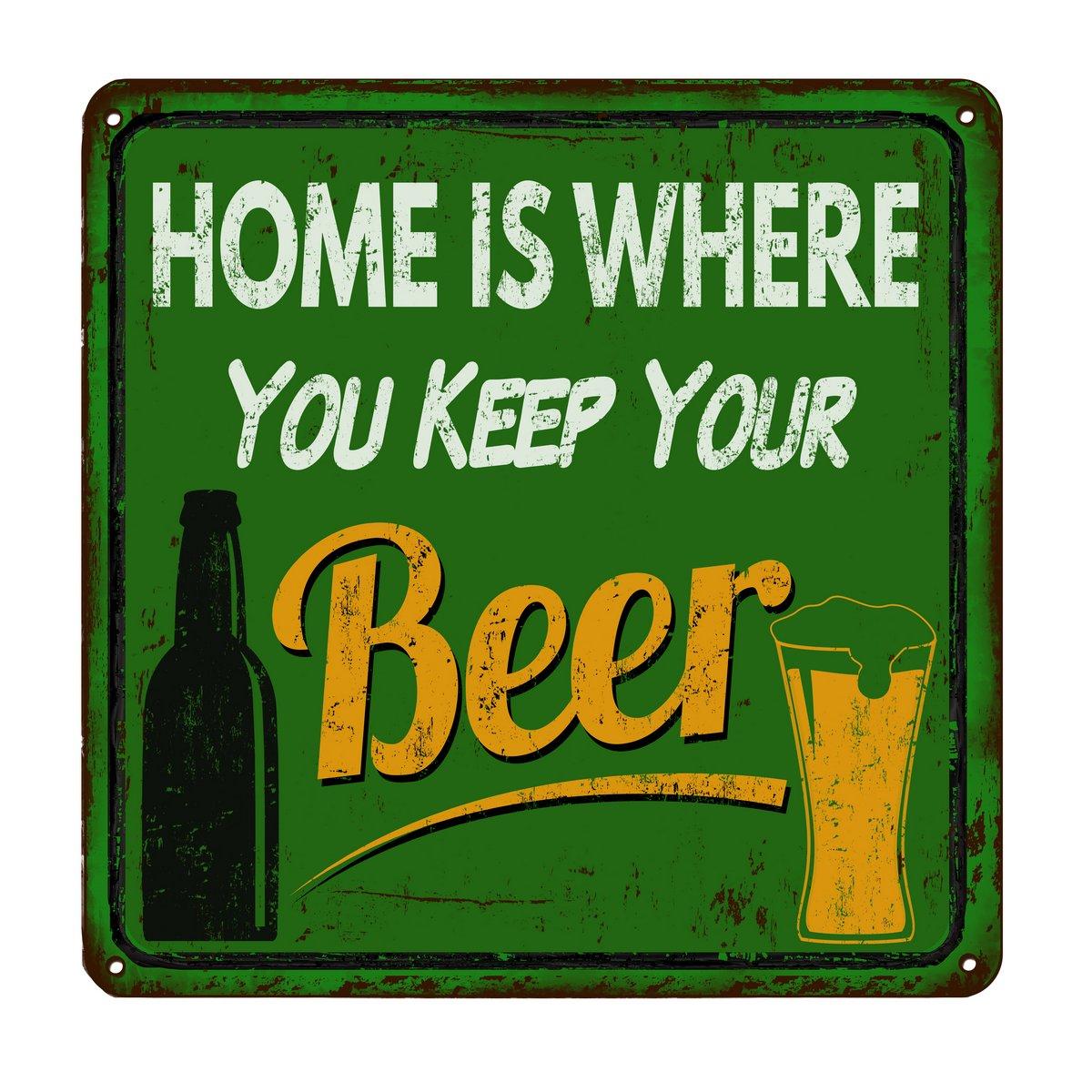Постер-картина Смешные таблички Дом там, где вы держите ваше пиво старинные металлические знакСмешные таблички<br>Постер на холсте или бумаге. Любого нужного вам размера. В раме или без. Подвес в комплекте. Трехслойная надежная упаковка. Доставим в любую точку России. Вам осталось только повесить картину на стену!<br>
