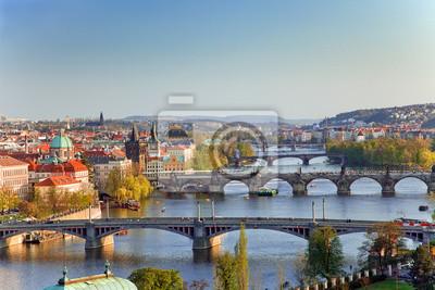 Вид на Мосты города на закате, 30x20 см, на бумагеПрага<br>Постер на холсте или бумаге. Любого нужного вам размера. В раме или без. Подвес в комплекте. Трехслойная надежная упаковка. Доставим в любую точку России. Вам осталось только повесить картину на стену!<br>