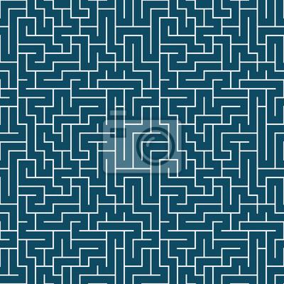 Постер-картина Лабиринт Векторная графика абстрактная геометрия узор лабиринта. синий лабиринт бесшовные геометрических фон . тонкая подушка и кровать дизайн листа. уникальная арт-деко. битник мода печатиЛабиринт<br>Постер на холсте или бумаге. Любого нужного вам размера. В раме или без. Подвес в комплекте. Трехслойная надежная упаковка. Доставим в любую точку России. Вам осталось только повесить картину на стену!<br>