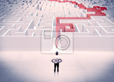 Постер-картина Лабиринт Лабиринт решена концепция бизнесменЛабиринт<br>Постер на холсте или бумаге. Любого нужного вам размера. В раме или без. Подвес в комплекте. Трехслойная надежная упаковка. Доставим в любую точку России. Вам осталось только повесить картину на стену!<br>