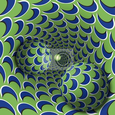 Постер-картина Фото-постеры Оптические иллюзии иллюстрации. Два шара движутся в крапинку отверстие. Синий полумесяц на зеленом объекты рисунка. Абстрактные фантазии в сюрреалистическом стиле., 20x20 см, на бумагеОптическое искусство<br>Постер на холсте или бумаге. Любого нужного вам размера. В раме или без. Подвес в комплекте. Трехслойная надежная упаковка. Доставим в любую точку России. Вам осталось только повесить картину на стену!<br>