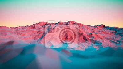 Постер-картина Полигональный арт 3D иллюстрации красочные абстрактные горыПолигональный арт<br>Постер на холсте или бумаге. Любого нужного вам размера. В раме или без. Подвес в комплекте. Трехслойная надежная упаковка. Доставим в любую точку России. Вам осталось только повесить картину на стену!<br>