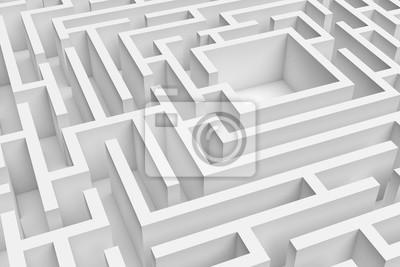 Постер-картина Лабиринт 3D-рендеринга белая площадь строительно лабиринт аппроксимируетсяЛабиринт<br>Постер на холсте или бумаге. Любого нужного вам размера. В раме или без. Подвес в комплекте. Трехслойная надежная упаковка. Доставим в любую точку России. Вам осталось только повесить картину на стену!<br>