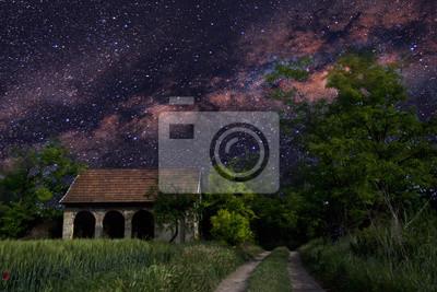 Постер Вечер Галактический пейзаж природаВечер<br>Постер на холсте или бумаге. Любого нужного вам размера. В раме или без. Подвес в комплекте. Трехслойная надежная упаковка. Доставим в любую точку России. Вам осталось только повесить картину на стену!<br>
