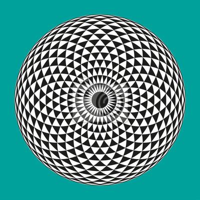 Постер-картина Оптическое искусство Векторная иллюстрация черный и белый геометрические оптические иллюзии глаз на сине-зеленом фонеОптическое искусство<br>Постер на холсте или бумаге. Любого нужного вам размера. В раме или без. Подвес в комплекте. Трехслойная надежная упаковка. Доставим в любую точку России. Вам осталось только повесить картину на стену!<br>