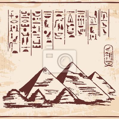 Постер-картина Иероглифы Векторная иллюстрация египетского национального рисунка. Изображения богов орнаментом иероглифов.Иероглифы<br>Постер на холсте или бумаге. Любого нужного вам размера. В раме или без. Подвес в комплекте. Трехслойная надежная упаковка. Доставим в любую точку России. Вам осталось только повесить картину на стену!<br>