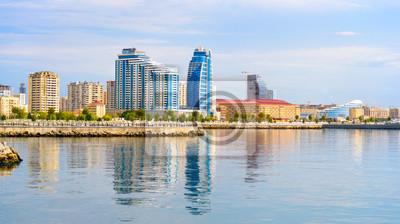 Вид города Баку, 36x20 см, на бумагеБаку<br>Постер на холсте или бумаге. Любого нужного вам размера. В раме или без. Подвес в комплекте. Трехслойная надежная упаковка. Доставим в любую точку России. Вам осталось только повесить картину на стену!<br>