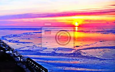 Постер Рассвет Рассвет и закат солнца в Рижском заливе Рассвет<br>Постер на холсте или бумаге. Любого нужного вам размера. В раме или без. Подвес в комплекте. Трехслойная надежная упаковка. Доставим в любую точку России. Вам осталось только повесить картину на стену!<br>