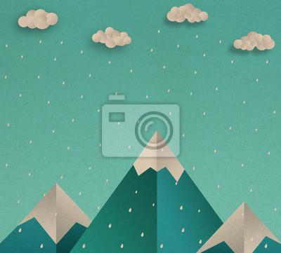 Постер Дождь Природа пейзаж , горы в дождливый сезон сцена , illustraionДождь<br>Постер на холсте или бумаге. Любого нужного вам размера. В раме или без. Подвес в комплекте. Трехслойная надежная упаковка. Доставим в любую точку России. Вам осталось только повесить картину на стену!<br>