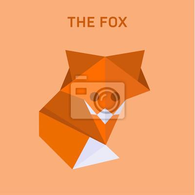 Постер-картина Полигональный арт Лиса оригами векторные иллюстрации из плоских многоугольниковПолигональный арт<br>Постер на холсте или бумаге. Любого нужного вам размера. В раме или без. Подвес в комплекте. Трехслойная надежная упаковка. Доставим в любую точку России. Вам осталось только повесить картину на стену!<br>