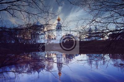 Церковь на реке осенний пейзаж в России, 30x20 см, на бумагеВологда<br>Постер на холсте или бумаге. Любого нужного вам размера. В раме или без. Подвес в комплекте. Трехслойная надежная упаковка. Доставим в любую точку России. Вам осталось только повесить картину на стену!<br>