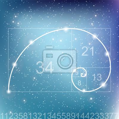 Золотое сечение - пропорция. Вселенная со звездами. Матрицы светящихся звезд. Космический фон., 20x20 см, на бумагеЗолотое сечение, числа Фибоначчи<br>Постер на холсте или бумаге. Любого нужного вам размера. В раме или без. Подвес в комплекте. Трехслойная надежная упаковка. Доставим в любую точку России. Вам осталось только повесить картину на стену!<br>