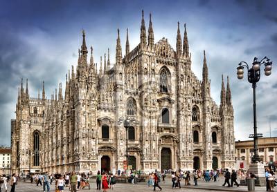 Постер Милан Duomo di MilanoМилан<br>Постер на холсте или бумаге. Любого нужного вам размера. В раме или без. Подвес в комплекте. Трехслойная надежная упаковка. Доставим в любую точку России. Вам осталось только повесить картину на стену!<br>
