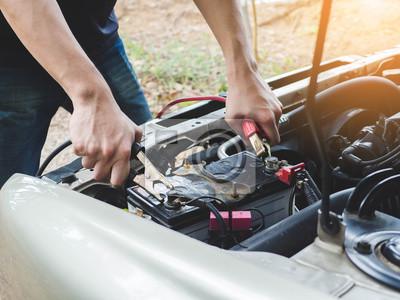 Зарядка автомобильного аккумулятора с через электричества соединительные кабели, 27x20 см, на бумагеАвтосервис<br>Постер на холсте или бумаге. Любого нужного вам размера. В раме или без. Подвес в комплекте. Трехслойная надежная упаковка. Доставим в любую точку России. Вам осталось только повесить картину на стену!<br>
