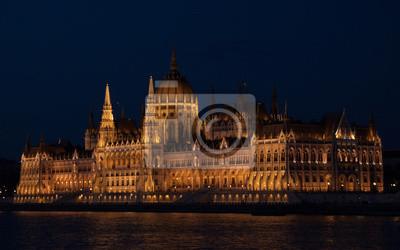 Парламент ночью , 32x20 см, на бумагеБудапешт<br>Постер на холсте или бумаге. Любого нужного вам размера. В раме или без. Подвес в комплекте. Трехслойная надежная упаковка. Доставим в любую точку России. Вам осталось только повесить картину на стену!<br>