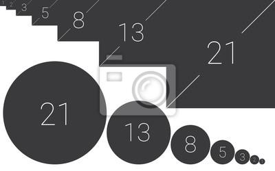 Постер Фото-постеры Постер 171901411, 32x20 см, на бумагеЗолотое сечение, числа Фибоначчи<br>Постер на холсте или бумаге. Любого нужного вам размера. В раме или без. Подвес в комплекте. Трехслойная надежная упаковка. Доставим в любую точку России. Вам осталось только повесить картину на стену!<br>