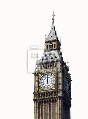 Постер Лондон В 12 часов. Биг-Бен, Лондон, Великобритания.Лондон<br>Постер на холсте или бумаге. Любого нужного вам размера. В раме или без. Подвес в комплекте. Трехслойная надежная упаковка. Доставим в любую точку России. Вам осталось только повесить картину на стену!<br>