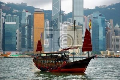 Постер Гонконг Китай, нежелательных в Гонконгской гаваниГонконг<br>Постер на холсте или бумаге. Любого нужного вам размера. В раме или без. Подвес в комплекте. Трехслойная надежная упаковка. Доставим в любую точку России. Вам осталось только повесить картину на стену!<br>