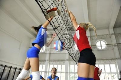 Девушки играли в волейбол Крытый игры, 30x20 см, на бумагеВолейбол<br>Постер на холсте или бумаге. Любого нужного вам размера. В раме или без. Подвес в комплекте. Трехслойная надежная упаковка. Доставим в любую точку России. Вам осталось только повесить картину на стену!<br>