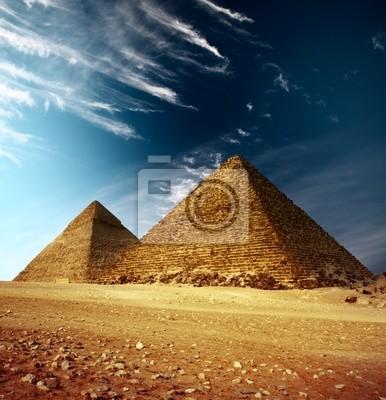 Постер Архитектура Постер 25230119, 20x21 см, на бумагеЕгипетские пирамиды<br>Постер на холсте или бумаге. Любого нужного вам размера. В раме или без. Подвес в комплекте. Трехслойная надежная упаковка. Доставим в любую точку России. Вам осталось только повесить картину на стену!<br>
