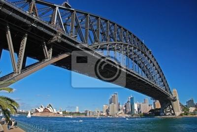 Постер Сидней Мост Харбор-Бридж, Сидней, АвстралияСидней<br>Постер на холсте или бумаге. Любого нужного вам размера. В раме или без. Подвес в комплекте. Трехслойная надежная упаковка. Доставим в любую точку России. Вам осталось только повесить картину на стену!<br>