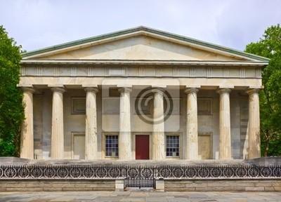 Постер Филадельфия Исторический Второго Национального банка зданияФиладельфия<br>Постер на холсте или бумаге. Любого нужного вам размера. В раме или без. Подвес в комплекте. Трехслойная надежная упаковка. Доставим в любую точку России. Вам осталось только повесить картину на стену!<br>