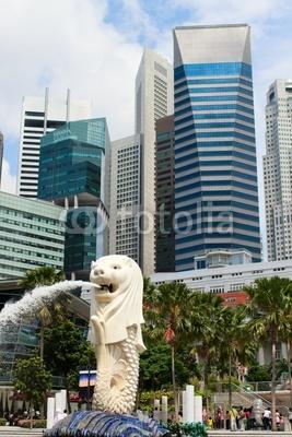 Постер Сингапур Merlion символ СингапураСингапур<br>Постер на холсте или бумаге. Любого нужного вам размера. В раме или без. Подвес в комплекте. Трехслойная надежная упаковка. Доставим в любую точку России. Вам осталось только повесить картину на стену!<br>